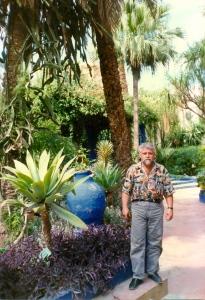 David, en un viaje a Rabat y Marraquech